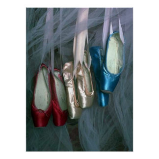 Ballet Toe Shoes in Three Colors Poster