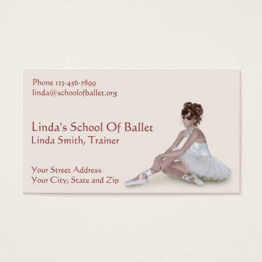 Ballet Trainer Instructor Business Card