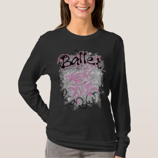 Ballet Tulle With Pink Flower T-Shirt