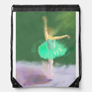 Ballet Turn Drawstring Bag