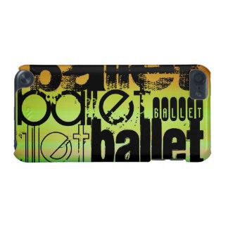 Ballet; Verde vibrante, naranja, y amarillo Funda Para iPod Touch 5G