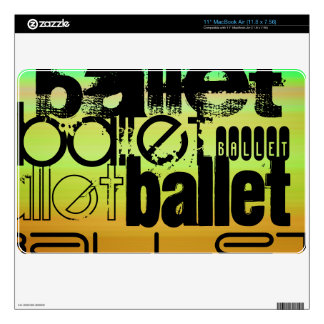 "Ballet; Vibrant Green, Orange, & Yellow 11"" MacBook Air Decal"