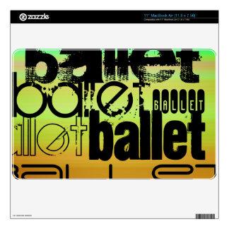 Ballet; Vibrant Green, Orange, & Yellow Skins For MacBook Air