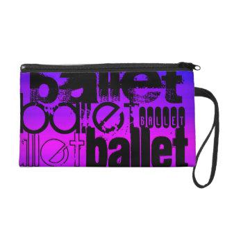 Ballet; Vibrant Violet Blue and Magenta Wristlet Purses