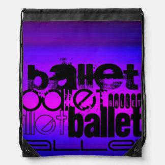 Ballet; Vibrant Violet Blue and Magenta Backpacks