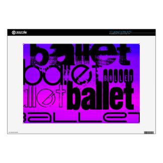 "Ballet; Vibrant Violet Blue and Magenta 15"" Laptop Decal"