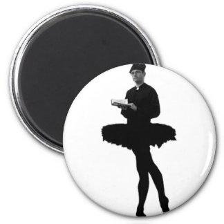 Ballet Vicar 2 Inch Round Magnet
