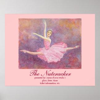 Ballet walnut dividing doll poster