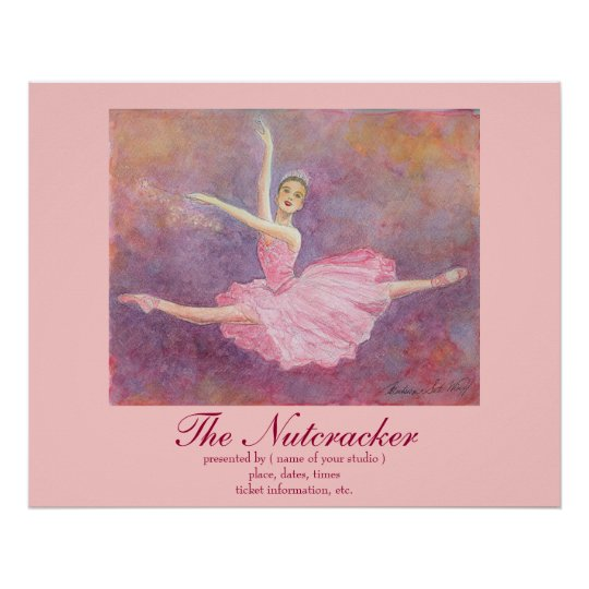 Ballet walnut dividing doll poster