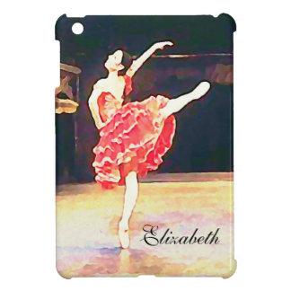 Ballet Watercolor Don Quixote Red Tutu iPad Mini Case