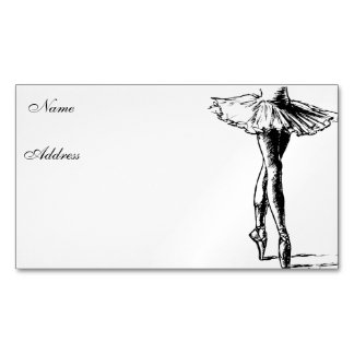 Ballet Magnetic Business Cards (Pack Of 25)