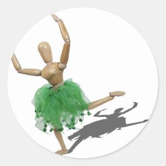 BalletLearningArabesque122410 Classic Round Sticker
