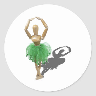 BalletPointeFifth122410 Classic Round Sticker