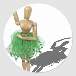 BalletPose122410 Classic Round Sticker