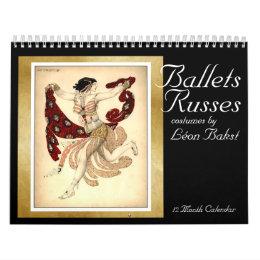 Ballets Russes costumes by Bakst - Calendar 2016
