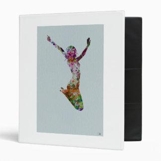 Ballette watercolor 3 ring binder