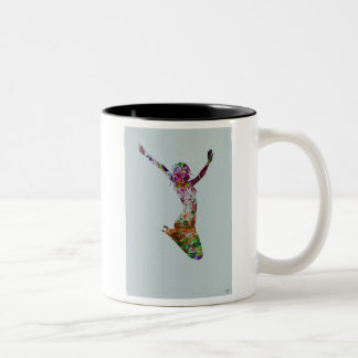 Ballette watercolor coffee mug
