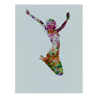 Ballette watercolor postcard