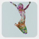 Ballette watercolor stickers