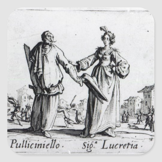 Balli de Sfessania, c.1622 2 Pegatina Cuadrada