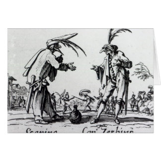 Balli de Sfessania, c.1622 2 Tarjeta De Felicitación