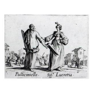 Balli de Sfessania c 1622 2 Tarjetas Postales
