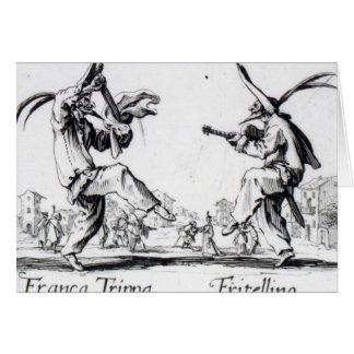 Balli de Sfessania c 1622 Tarjeta