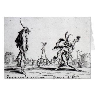 Balli de Sfessania, c.1622 Tarjeta De Felicitación