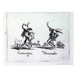 Balli de Sfessania c 1622 Tarjeta Postal
