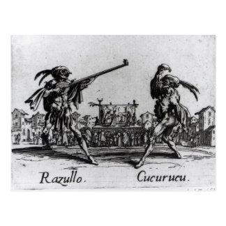 Balli de Sfessania, c.1622 Tarjeta Postal