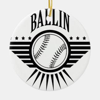 ballin 1.png adorno navideño redondo de cerámica