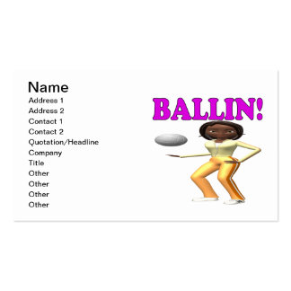 Ballin 2 Double-Sided standard business cards (Pack of 100)
