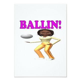 """Ballin 2 invitación 5"""" x 7"""""""