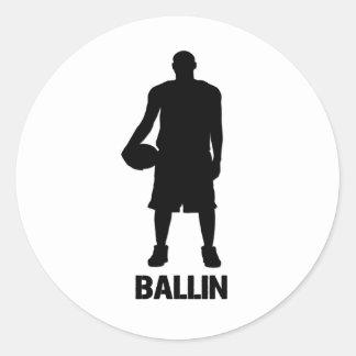 Ballin Classic Round Sticker