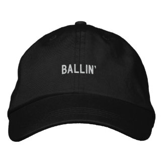 Ballin' Embroidered Baseball Hat