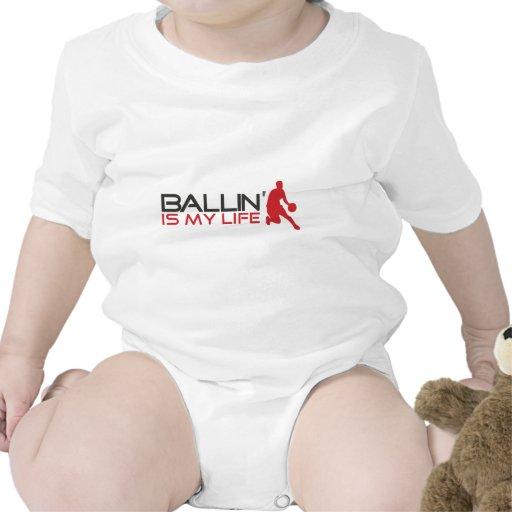 Ballin es mi vida Streetball Traje De Bebé