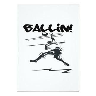"""Ballin Invitación 5"""" X 7"""""""