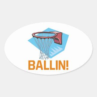 Ballin Oval Sticker