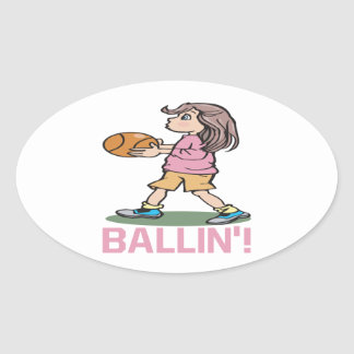 Ballin Pegatinas Ovales