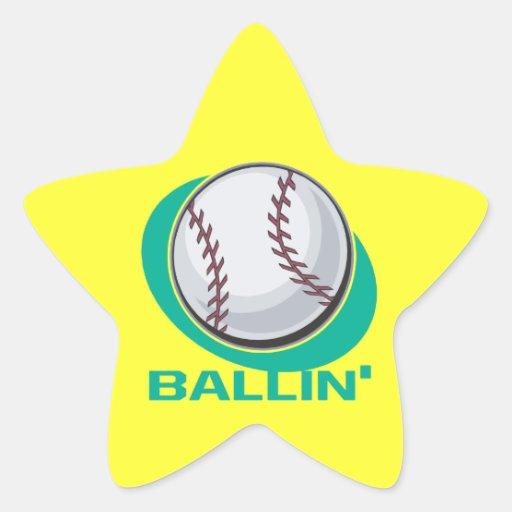 Ballin Calcomania Forma De Estrella