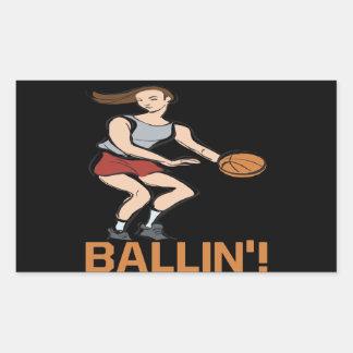 Ballin Pegatina Rectangular