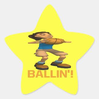 Ballin Star Sticker