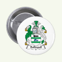 Ballingall Family Crest Button