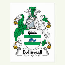 Ballingall Family Crest Postcard
