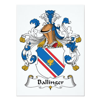 Ballinger Family Crest Card