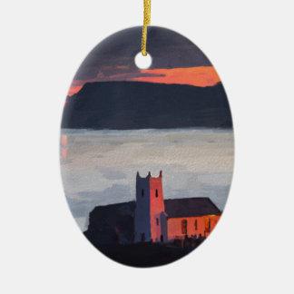 Ballintoy Church, Ireland Ceramic Ornament