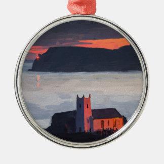 Ballintoy Church, Ireland Metal Ornament