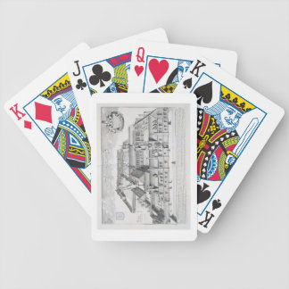 Balliol College, Oxford, from 'Oxonia Illustrata', Bicycle Playing Cards