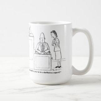 Ballistics expert cross-examination classic white coffee mug