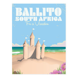 Ballito South Africa vintage beach travel poster Postcard